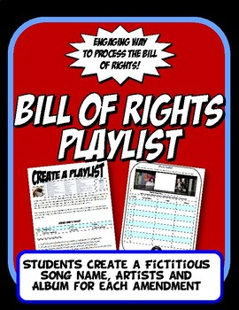 Bill of Rights Playlist Fun Activity