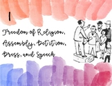 Bill of Rights Posters Watercolor