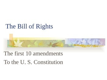Bill of Rights Power point presentation