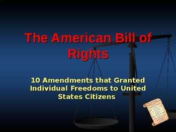 Foundations of Government - The Bill of Rights