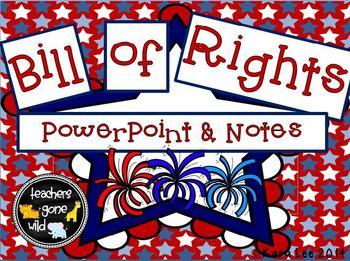 Bill of Rights PowerPoint and Notes Sheet