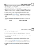 Bill of Rights Project worksheet - Gifted & Academic Versions