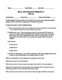 Bill of Rights Project - great for anytime of the year!