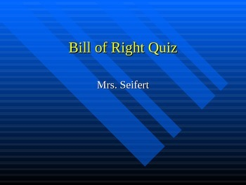 Bill of Rights Quiz show game with real life Examples