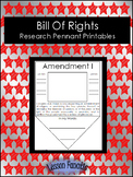 Bill of Rights Research Pennant Posters