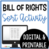 Bill of Rights Sort: Print and Digital Version for Distance Learning