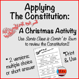 Bill of Rights Activity Holiday Edition : Santa Claus is Comin' to Town