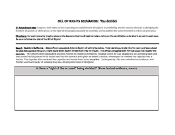 Bill of Rights Scenarios - You Decide!