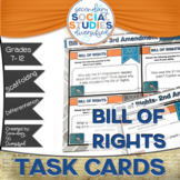 Bill of Rights | Differentiated Task Cards and Notes | Amendments | U.S.