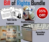 US Constitution: Bill of Rights Activities Bundle - Task Cards, Foldables, etc.