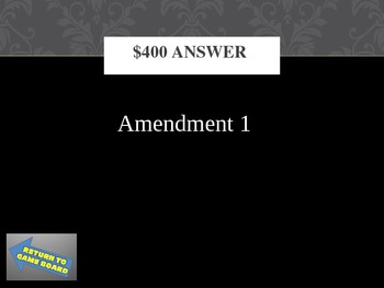 Bill of Rights Trivia Game