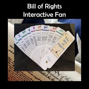 Bill of Rights U.S. Amendments Interactive Fan