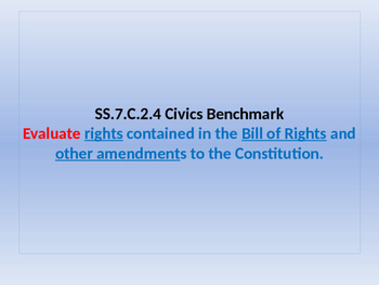 Unit Lesson Plan - Bill of Rights - Power Point - SS.7.C.2.4