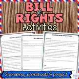 Bill of Rights Nonfiction Articles, Worksheets, Projects and Activities