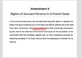 Bill of Rights - Wall Posters (10 Amendments)