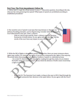 Bill of Rights Webquest and Discussion