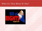 Bill of Rights-What do They Mean To You? PPT