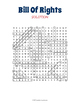 US Bill of Rights Word Search