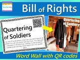 Bill of Rights Word Wall with QR Codes {10 Amendments}