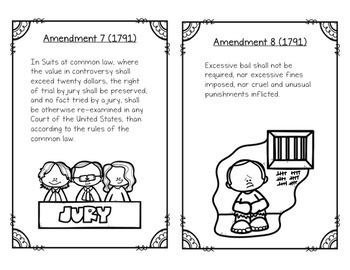 Bill of Rights and Amendments: Task Cards