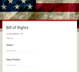 Bill of Rights by James Madison - Google Form