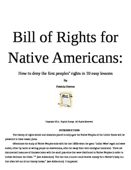 Bill of Rights for Native Americans