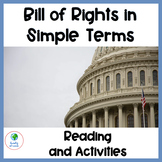 Bill of Rights in Simple Terms with Activities