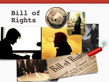 Bill of Rights ~ Constitution + 10 Printables + Quiz + Flashcards ~ 92 Slides