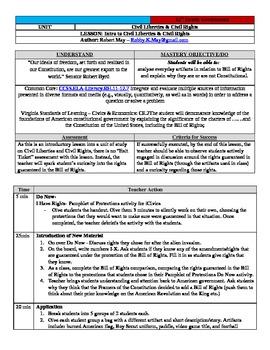 Bill of Rights/Civil Liberties Unit Bundle