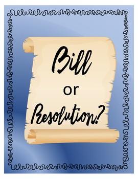 Bill or Resolution?