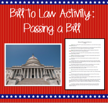 Bill to Law Activity: Passing a Bill