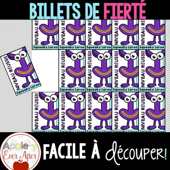 Billets de Fierté - French Brag Tags Go Noodle Freebie