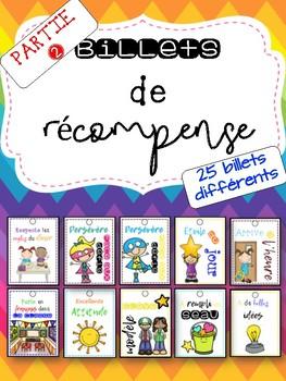 Billets de fierté / coupons de récompense PARTIE 2 French Brag Tags