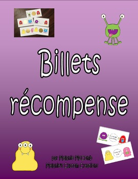 Billets récompense MONSTRES - French Reward Coupons (Scratch & Win style)