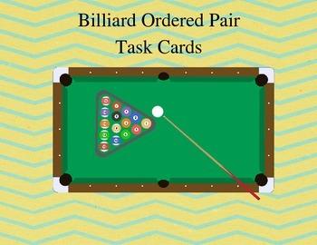 Billiard Ordered Pair Task Cards