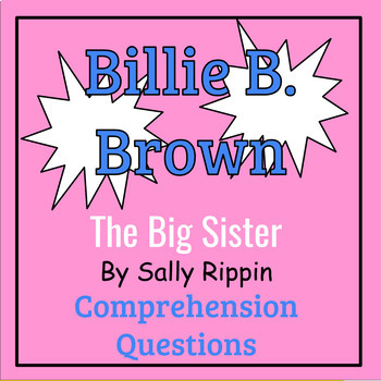 Billie B. Brown: The Big Sister by Sally Rippin Book Study