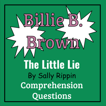 Billie B. Brown: The Little Lie by Sally Rippen Book Study