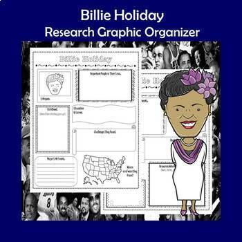 Billie Holiday Biography Research Graphic Organizer