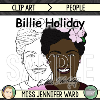 Billie Holiday Clipart