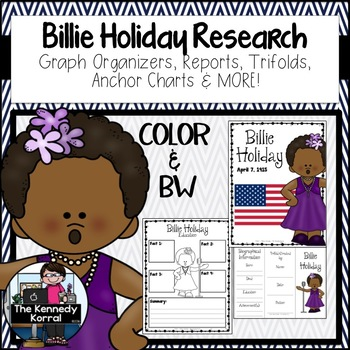 Billie Holiday Biography Research Bundle {Report, Trifold,