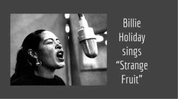 "Billie Holiday and ""Strange Fruit"""
