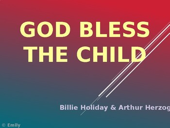 "Billie Holiday's ""God Bless the Child"" Sing-Along"