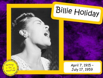 Billie Holilday: Musician in the Spotlight