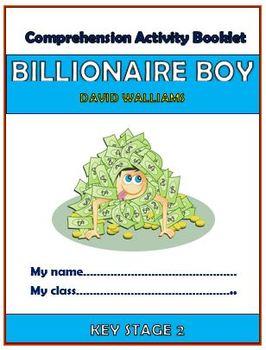 Billionaire Boy Comprehension Activities Booklet!
