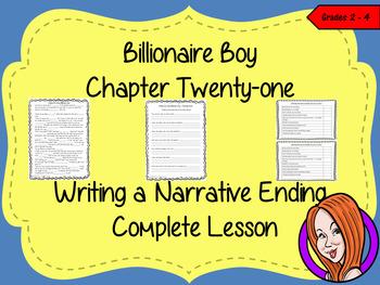 Billionaire Boy  – Writing a Narrative Ending -  Complete Lesson