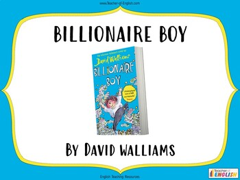 Billionaire Boy teaching resources - Powerpoint, worksheets and plan