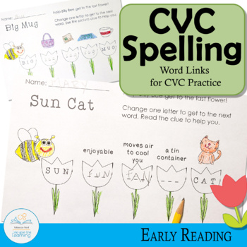 Spelling and Vocabulary Word Ladders CVC