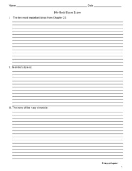 billy budd final test essay examination by happyedugator tpt billy budd final test essay examination