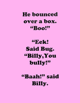 Initial B - Phonology-Billy Bunny