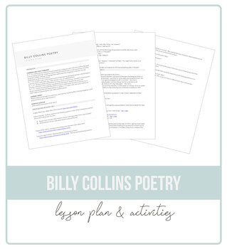 Billy Collins Poetry Lesson Plan